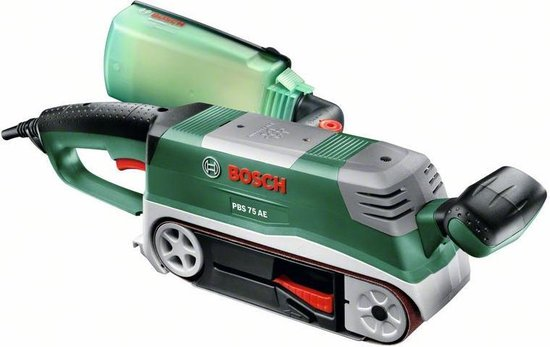 Bosch PBS 75 AE Bandschuurmachine- 750 W - Set, incl. parallel- en verstekgeleider