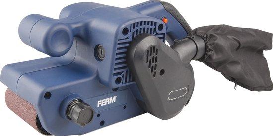 FERM BSM1024 Bandschuurmachine – 900W – Incl. schuurband (P80) & stofopvangzak
