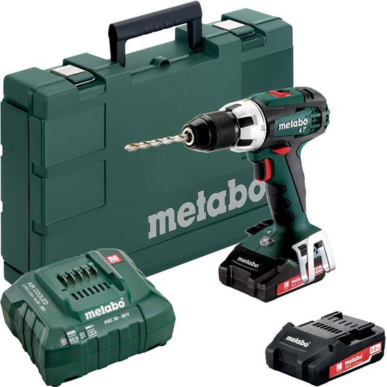 Metabo Accuboormachine BS 18 LT 18V 2x3,0 Ah Accu + oplader ASC 30-36 koffer
