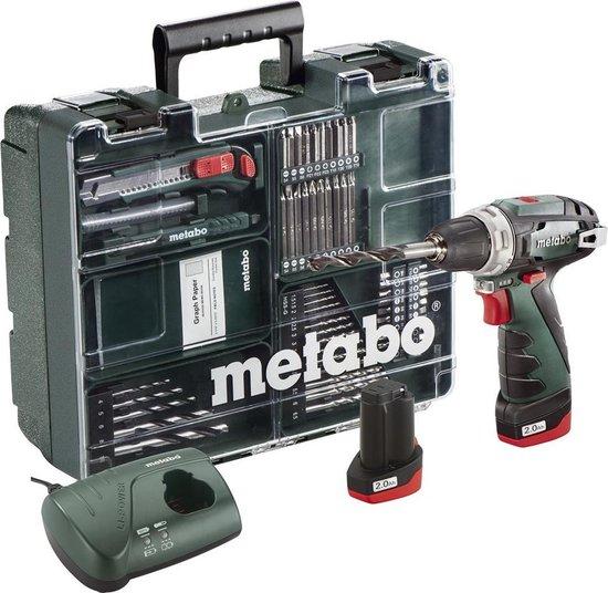 Metabo PowerMaxx BS Basic - Accuboormachine- 10,8 Volt - incl. 2 Li-ion accu-packs (2,0Ah), lader en toebehorenset